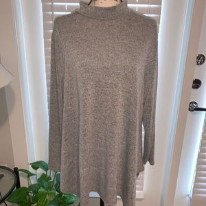 NWOT Style & Co Grey Tunic Sweater - 2X